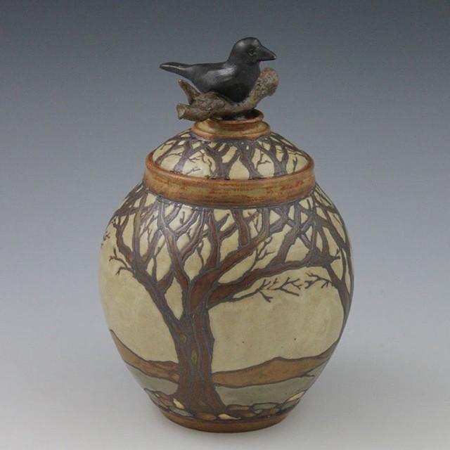 #pottery #artsandcraftsmovement #ravens