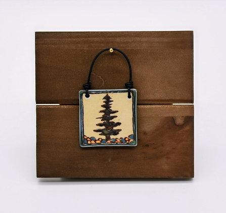 Lone Pine Tree Hanging Tile