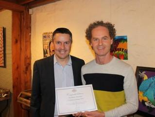 Certificate of Honour, 2014 Mark Butler (M.P.) Arts Award