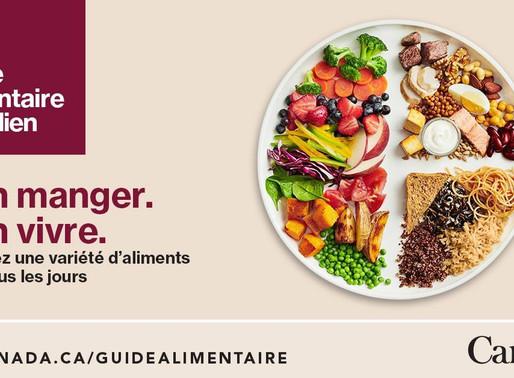 Le nouveau guide alimentaire canadien