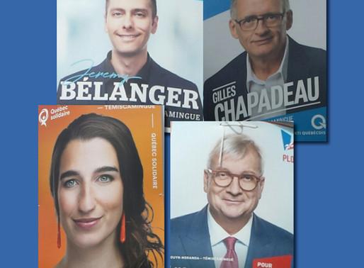 Les Politiciens, les photos et leurs pancartes