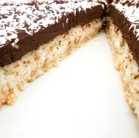 Tarta de coco y chocolate