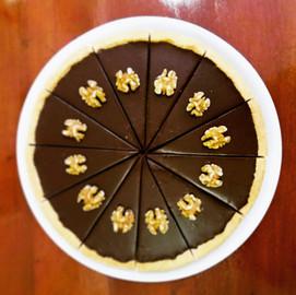 Tarta de ganache de chocolate negro