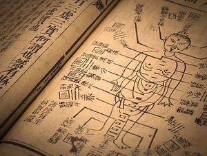 Akupunktur gammal bok