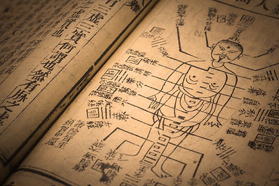 ancient book showing EFT tapping points