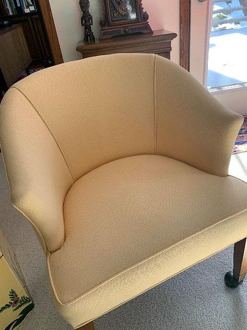 Henredon occasional chair pale yellow