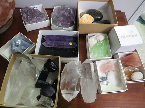 Collection of crystals