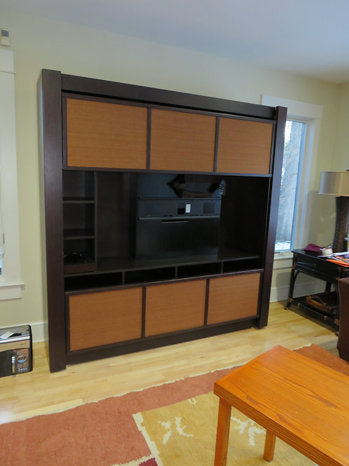 Custom Accordion Wall Unit for Flat Screen TV
