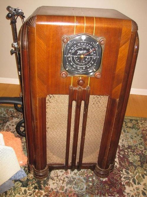 Zenith floor model tube radio