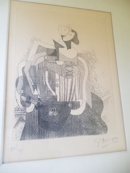 Signed etching by Georges Braque 20/50