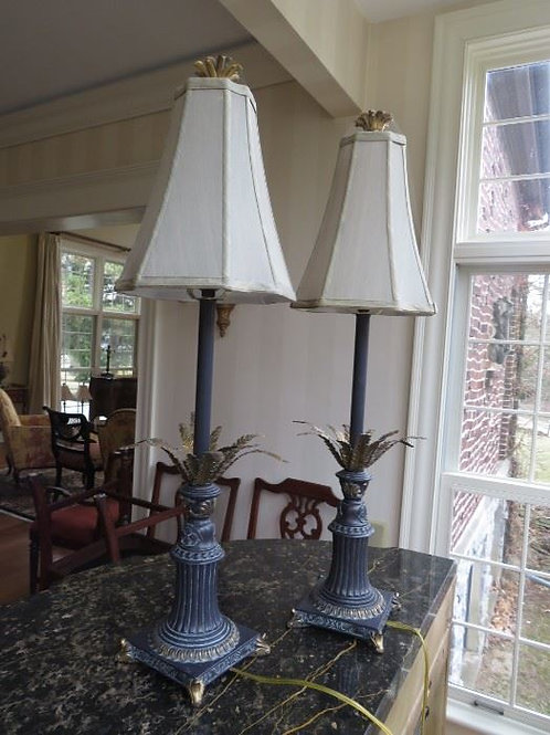 Tall Decorative Metal Lamps ($25 each)
