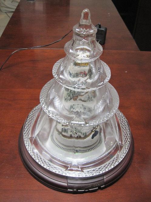 Thomas Kinkade Christmas tree Glass dome