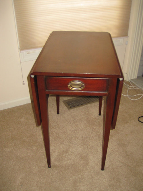 "Mahogany Drop leaf table 26"" tall, vg condition"