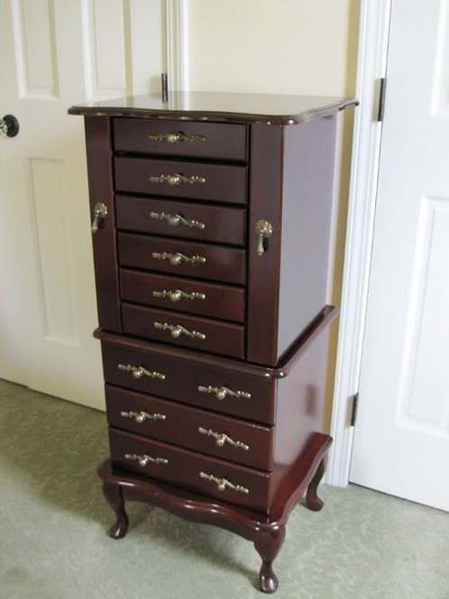 "41"" tall Mahogany Signature jewelry chest"