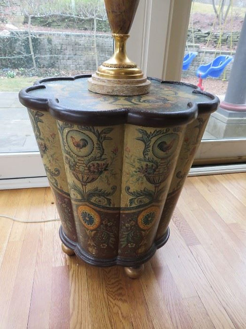Painted Asian Ware Table w/ Storage