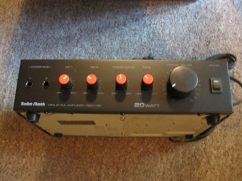 Radio Shack MPA 31 PA amplifier