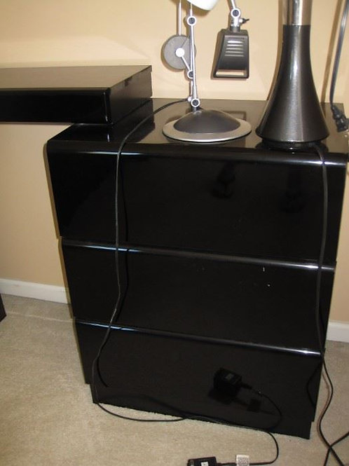"Lane Black lacquer side table 30"" tall 24"" wide $40 each there are two"
