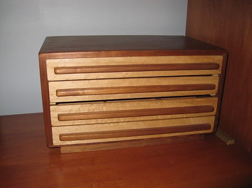 Custom teak jewelry case