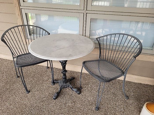 Bistro Set with Cast Iron Table from England