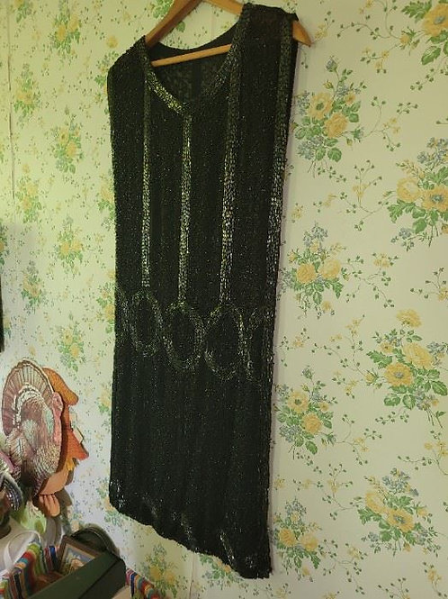 Vintage Beaded Flapper Dress