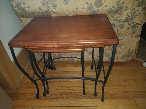 Heavy Nesting tables solid wood excellent condition