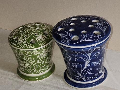 """Two Flower Frog Vases - 6"""""""
