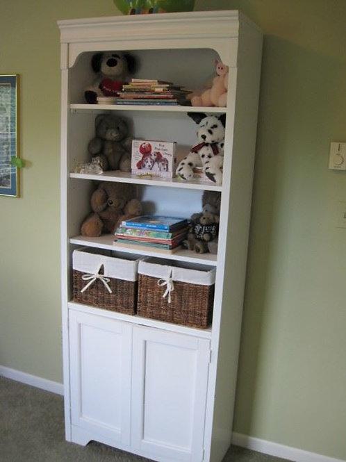 White book case cabinet