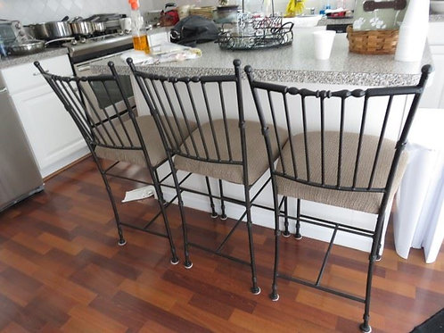 Bar chairs 2' high to seat, 4 available VGC