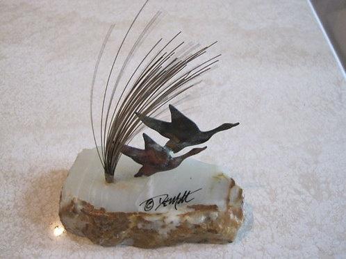 """Demott Geese sculpture 5 x 6"""""""