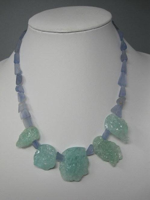 "Precious stones sterling clasp 18"", Selo/Shevevel Gallery"