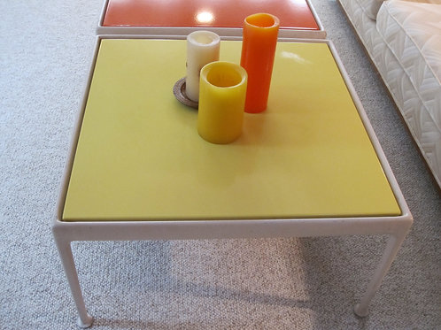 Yellow Knoll table legs show average wear