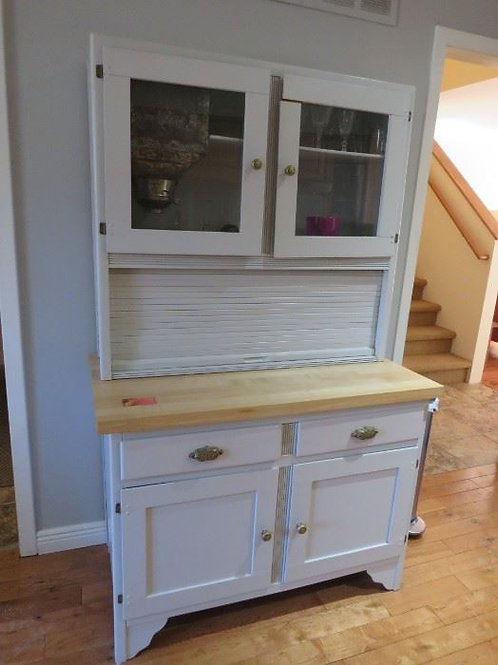 Old Painted Sellers Cabinet