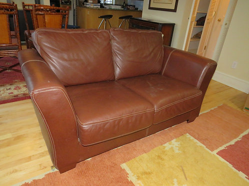 Italian Leather Sofa Love Seat