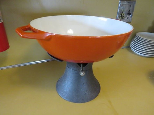 Vintage Orange Denmark Nacco w/Cast Iron Base