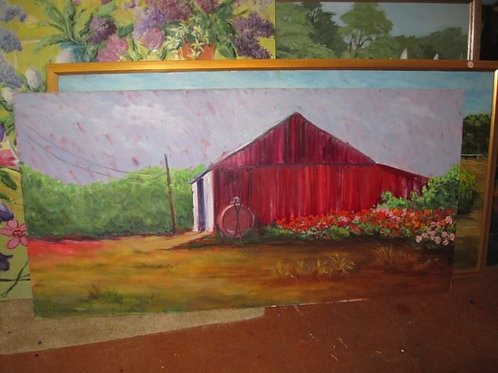 Big Red Barn by J. Coates 25/50""