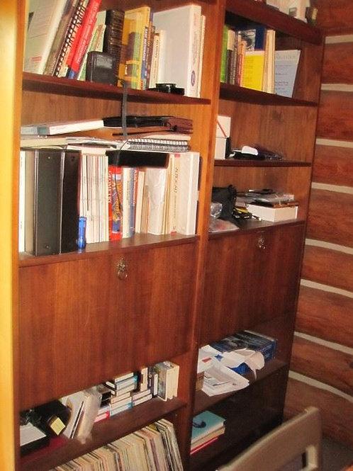 2 Walnut bookcase units