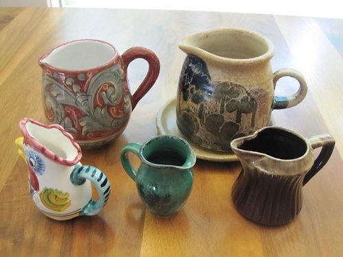 5 Art Pottery Pitchers