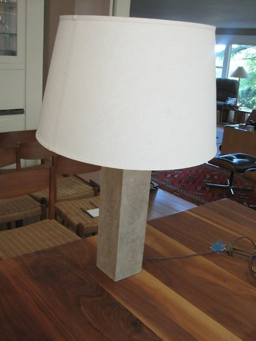 "Marble lamp 29"" small chip on base"