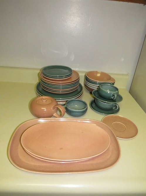 Russel Wright Dish set VG. I am including in the picture pieces that have wear