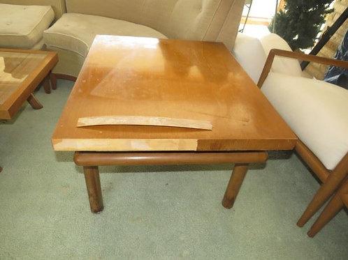 Robsjohn-Gibbings for Widdicomb end table, veneer shows wear on on side, 32 x 26