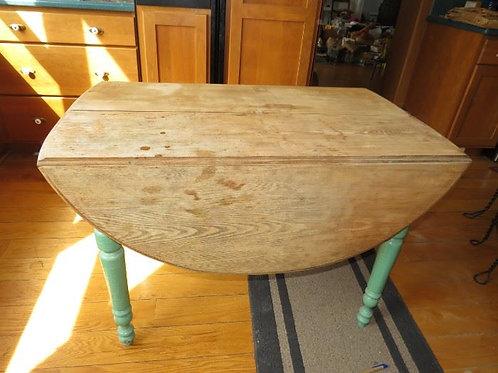 Primitive Drop Leaf Table - Green Painted Base