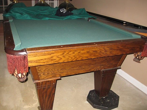 8 ' slate pool table VG condition