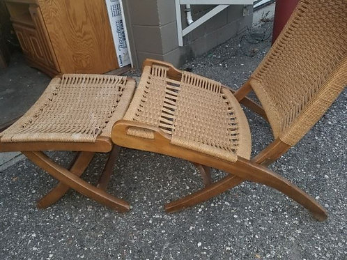 MCM German chair and ottoman VG condition