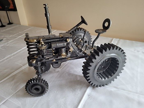 Nuts & Bolts Industrial Metal Tractor by Peterman
