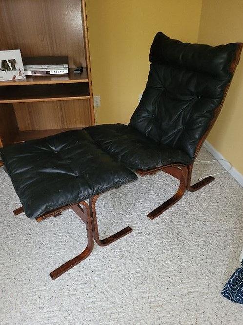 Wesnofa Ingmar Welling NORWAY CHAIR and ottoman black leather MCM