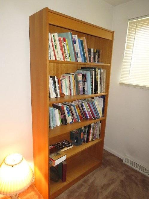Wood book shelves