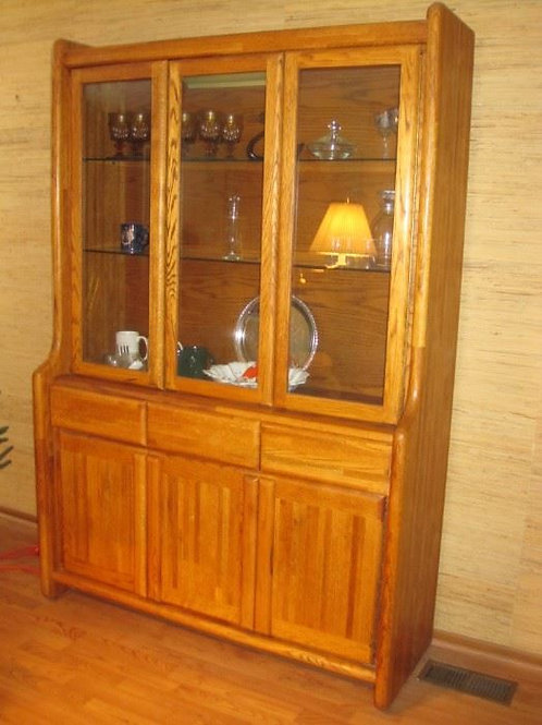 "Boyd Oak China Cabinet 50 x 75""T VG condition"