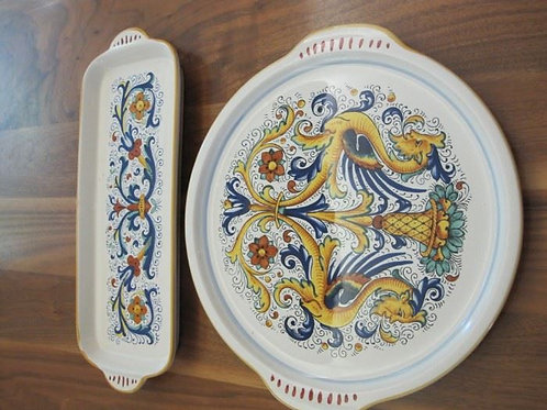 """Deruta pottery largest 13"""", vg condition no chips"""