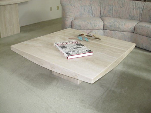 """Marble Travertine coffee table 42"""" x 15"""" t"""