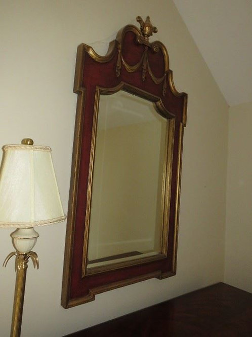 Ornate Red & Gold Mirror